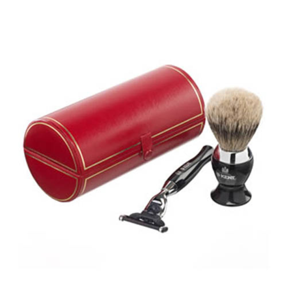 SHAVING SET - Black & Chrome