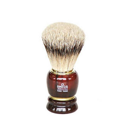 SHAVING BRUSH - BROWN VERY SMALL